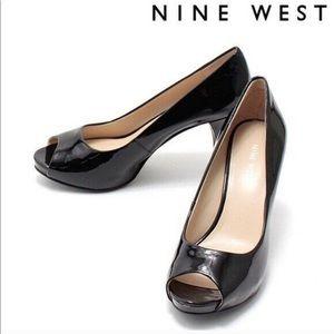 NWT Nine West Kelsyo Patent Black Pumps SZ 9.5
